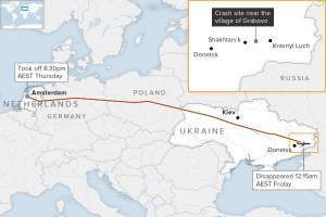 map-shows-the-path-of-malaysia-airlines-flight-mh17-data